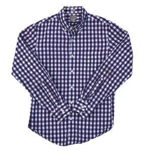 J Crew Slim Washed Button Down Shirt Gingham Plaid